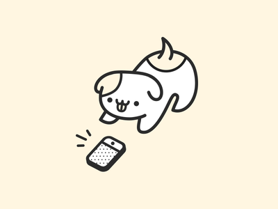 Hello, this is dog health pet veterinarian vet cute sticker icon voice smartphone phone puppy dog
