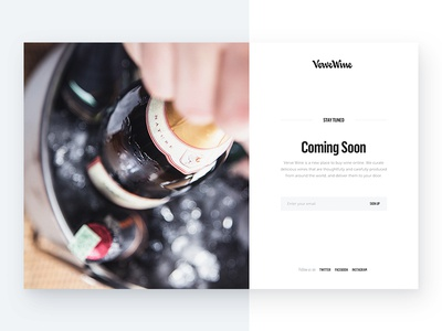 Verve – Coming Soon champagne flama logo type desktop coming soon launch verve wine signup launching website