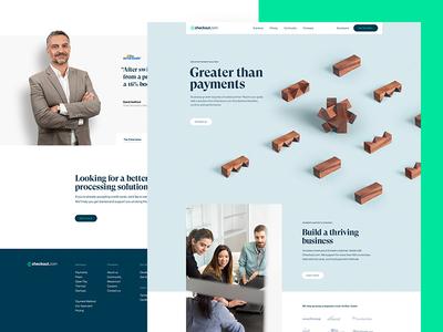 Checkout.com – Desktop grilli type saas overlaps photography grid checkout site business b2b finance fintech website