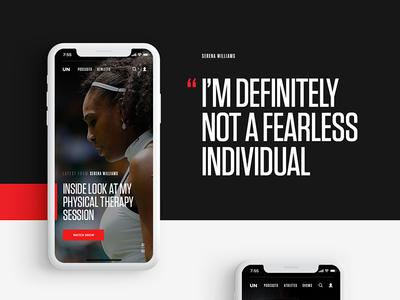 Uninterrupted on Behance entertainment responsive nba vlog basketball video player content platform sport serena williams lebron james