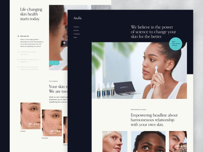 Atolla – Full Homepage product art direction science ecommerce kickstarter startup health beauty skincare platform grid website