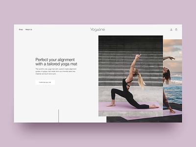 Yogaline homepage shopfiy dtc yoga sport marketing grid bali homepage custom lifestyle boxes helvetica