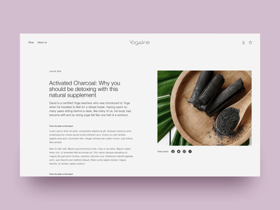 Yogaline blog and article page beauty layout editorial scroll grid article yoga website dtc blog ecommerce shopify