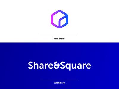 Share & Square – Identity Cocept icon print digital typography vector illustration design logo identity branding