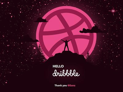First Shot hello dribbble deisgn minimalistic dribbble debut shot shots dribbble best shot dribbble ball dribbble