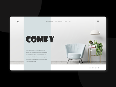 Landing Page #DailyUI daily ui xd adobe xd web design ui ux uiux website furniture store home home page landing page