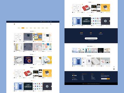 Digital Product Market Place - Landing Page landing page home page home web design xd ui adobe xd envato behance dribbble ecommerce market place digital product multi-vendor