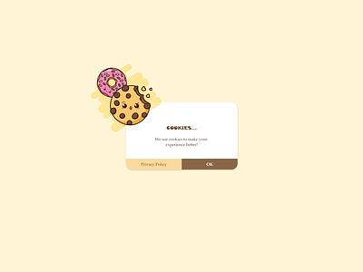 Cookies! Pop Up #DailyUI ui web design daily ui xd adobe xd pop up brower cookie
