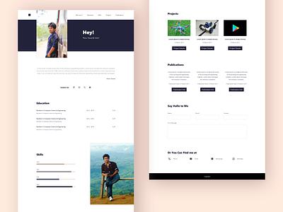 Portfolio simple portfolio personal website design web design xd ui adobe xd portfolio design portfolio
