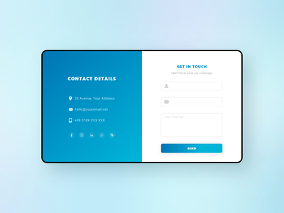 Contact #DailyUI daily ui xd ui adobe xd form contact form cotact