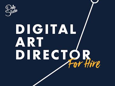 Digital Art Director for hire ! designer agency designstudio job art direction hire uxui design