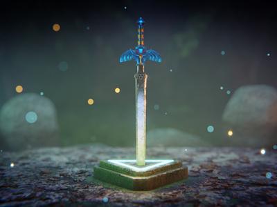 Master Sword chepetusa breathofthewild zelda somosmosh nintendoswitch nintendo 64 nintendo link weapon sword mastersword 3dart b3d 3d