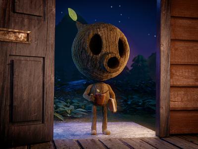 Woodman fanart woodman hilda hildatheseries chepetusa blender3d cartoon character 3dart b3d 3d