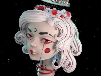 Let your mind be in a infinite state 3D girl illustration girl sculptjanuary2020 character 3dart b3d 3d