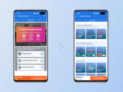 Redesigned - Crowdsourced insights on GoIbibo travel app app travel live redesign ux design
