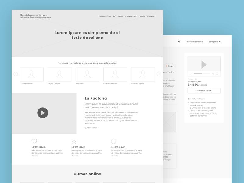 Wf Hipermedia V1 mockups webdesign sketchapp barcelona designweb web prototyping wireframe