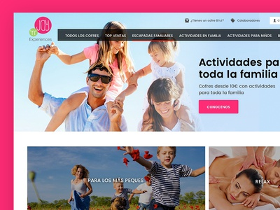 Hero home e-commerce design web modular header hero home ecommerce