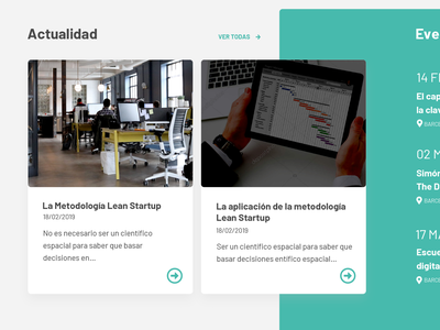 Module detail web clean ui minimal barcelona design news green detail module web sketch