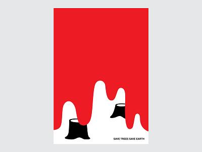 Poster for 365 Days minimalposterdesign posterdesign blood tree saveearth savetrees minimalposter poster