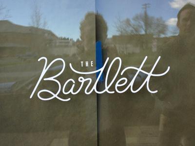 Bartlett window signage script logo identity spokane