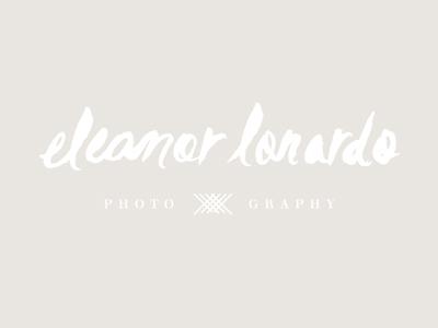 Final Eleanor Lonardo logo photographer identity logo script brush lettering