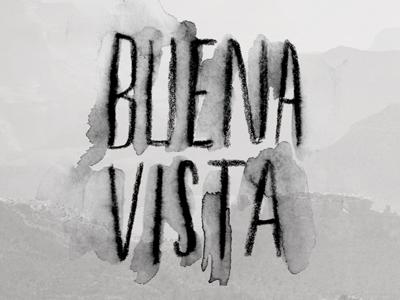 Buena Vista drawing lettering watercolor