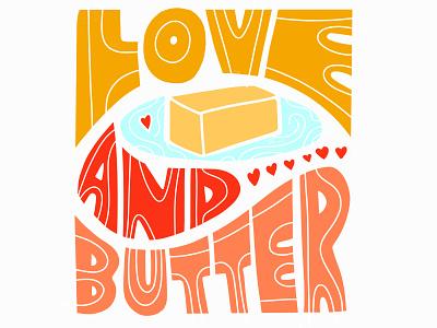 Butter baking butter illustration type lettering