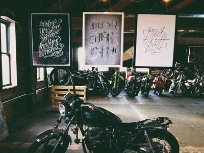 Blackletter art show art lettering blackletter motorcycle spokane