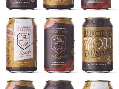 LYL pils design custom lettering logo identity spokane typography lettering branding branding design beer label beer art beer brand beer can