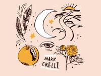 Mark Erelli tshirt peony illustration tshirt