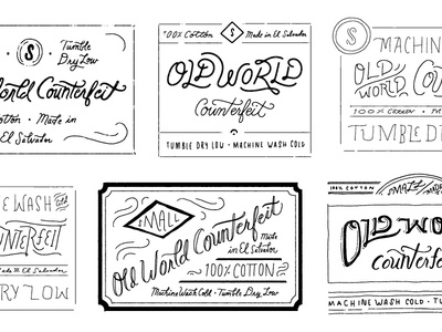 Old World Counterfeit tags