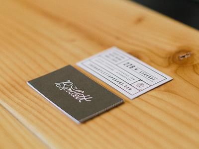 Bartlett cards business cards identity stationery branding spokane