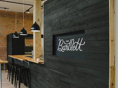 Cafe Signage sign spokane logo script branding interior signage