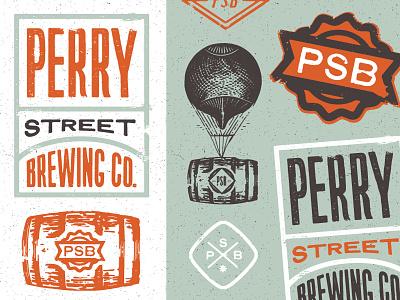 PSB brewery spokane identity branding stamp vintage texture