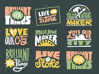 Newsletter graphics illustration spokane lettering hand drawn newsletter
