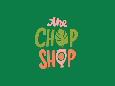 Chop Shop logo hand drawn lettering illustration branding logo