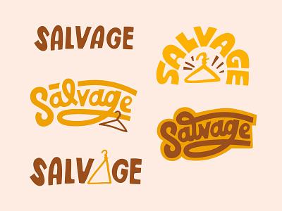 GN thrift Salvage logos design spokane typography lettering identity hand lettering block lettering script hand drawn branding logo
