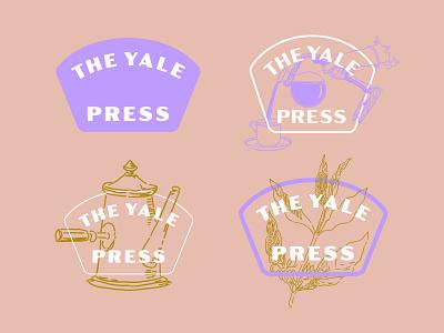 Yale Press logo coffee vintage branding logo coffee shop logo coffee logo