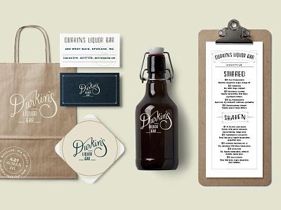Durkin's Liquor Bar - Branding branding restaurant spokane logo type vintage script