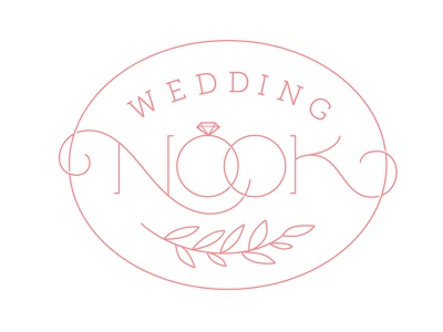 Wedding Nook Logo wedding rings identity branding logo lettering