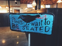 The Blackbird - vintage repurposed sign