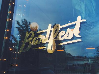 GOLD DECALS FTW! spokane script hand drawn lettering bartfest