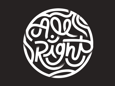 All Right hand lettering lettering
