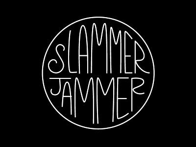 Slammer spokane the bartlett lettering type logo