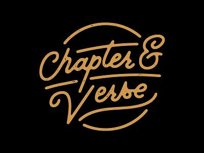 Chapter & Verse spokane chapter  verse identity branding script logo