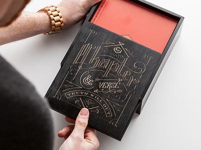 Engraved Box - Chapter & Verse chapter  verse box engraving laser engraved illustration lettering