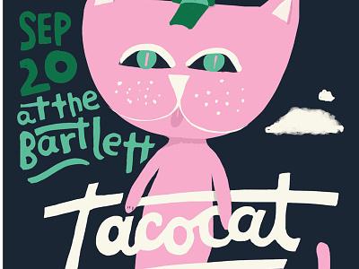 Tacocat poster spokane the bartlett music band tacocat poster