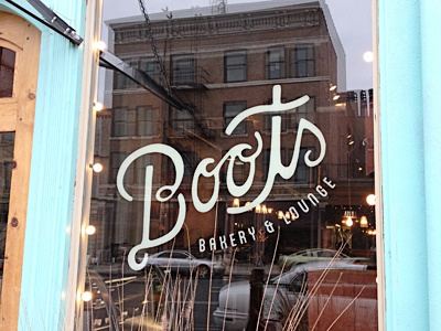 Boots spokane typography lettering coffee lounge bakery logo identity