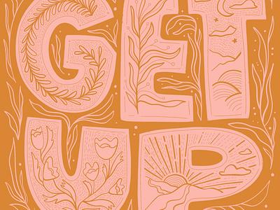 Get Up illustration art type illustration