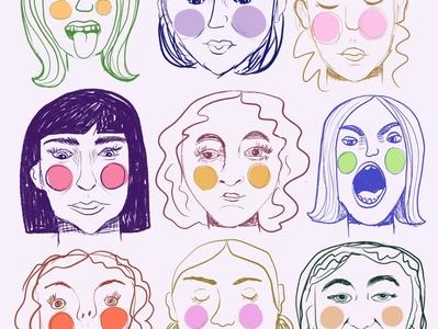 face doodles